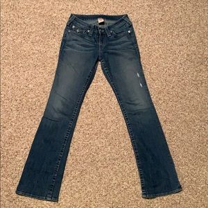 True Religion Boot Cut Distressed Great Condition